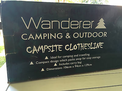 WANDERER Campsite Clothesline**Camping/Outdoor/Caravan**BNIB**With Carry Bag