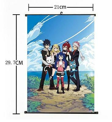 Hot Japan Anime Fairy Tail Natsu Whole Art Home Decor Poster Wall Scroll 21*30CM