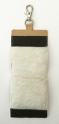 MDI Game Deluxe Leather Light Beige Double Fly Patch 10cm x 7cm