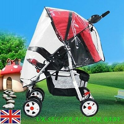 New Universal buggy Pushchair Stroller Pram Transparent rain cover For baby Kids