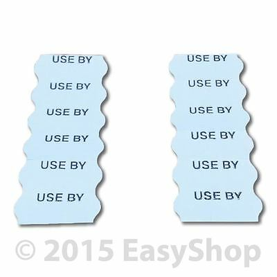 USE BY 26 X 12mm Printed Price Marking Gun Labels CT4 Motex White Perm Adhesive