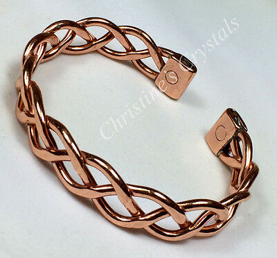 Magnetic Solid Copper HEAVY LACE Bracelet Healing Arthritis Pain Relief ( M26 )