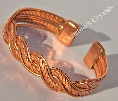 MAGNETIC Solid Copper BARBED WIRE Bracelet - Healing Arthritis Relief (M63)