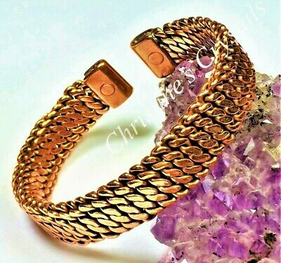 MAGNETIC Solid Copper WOVEN Bracelet - Healing Arthritis Pain Relief ( M5 )