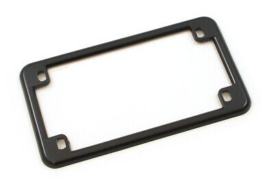 Gloss Black Metal Motorcycle License Plate Frame