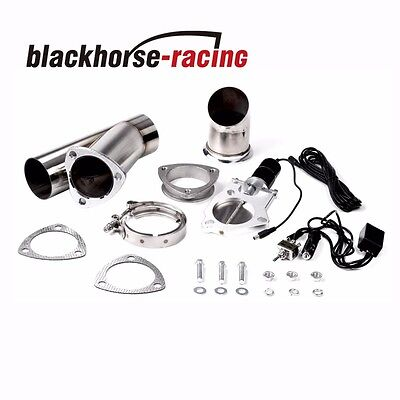 """2.5""""/63mm Mannal Electric Exhaust Catback Downpipe Cutout E-Cut Out Valve System"""