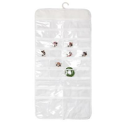 New 72 Pockets 2 Side Display Hanging Jewelry Earring Organizer Storage Bag - DD