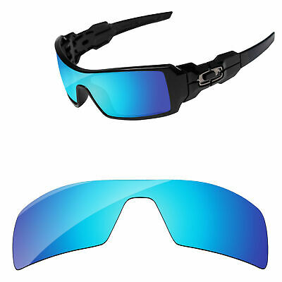 PapaViva Ice Blue Mirror Polarized Replacement Lenses For-Oakley Oil Rig