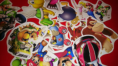 50 Mini Super Mario Vinyl Stickers Party Bag Fillers
