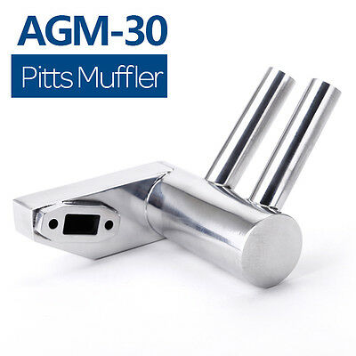 New 26cc-30cc Pitts Muffler Exhaust Silencer for DLE30/AGM30/GP26r UK