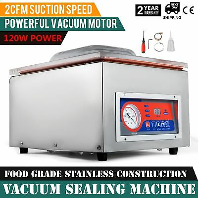 Vacuum Sealing Machine Commercial Hydraulic Pressure W/ Display Storage Kitchen