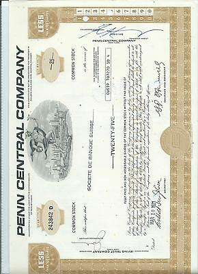 Share & Bond Certificate - Penn Central Company