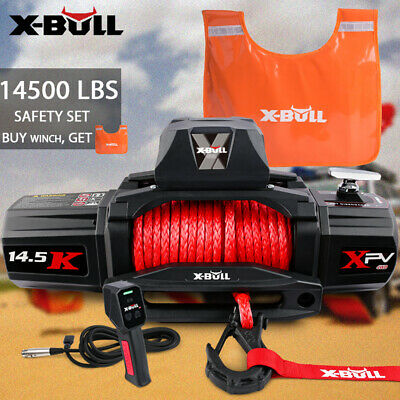 【22%OFF $345.9】X-BULL14500LBS 12V Electric Winch Synthetic Rope Wireless Offroad
