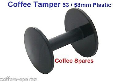 COFFEE TAMPER 53 & 58mm - double ended Plastic for espresso coffee machines