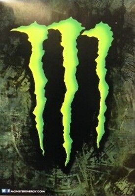 **NEW** ORIGINAL Monster Energy Drink Claw Logo Posters