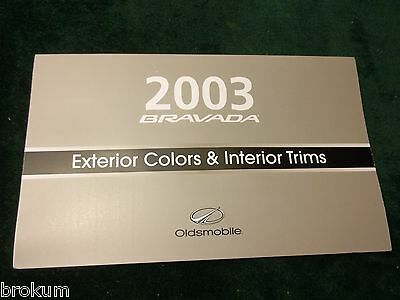 Mint New 2003 Oldsmobile Olds Bravada Exterior Color Selector Brochure (Box 562)