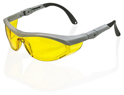 B Brand UTAH Safety Eye Protection Spectacles Glasses YELLOW Lens