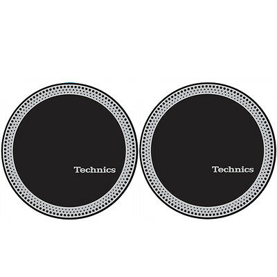 Technics 60666 DJ Vinyl Turntable Slipmat Strobe Black Pair