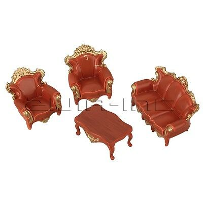 European Style 1:25 G Scale Dollhouse Sofa Settee Couch Model DIY Craft Layout