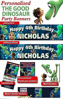Personalised The Good Dinosaur Birthday Party Decorations Supplies