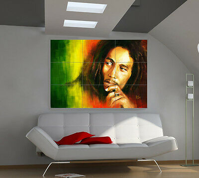 Bob Marley large giant music poster print photo mural wall art ia508