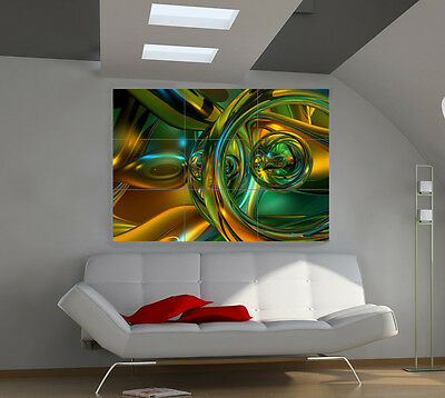 Hallucination large giant 3d poster print photo mural wall art ia075