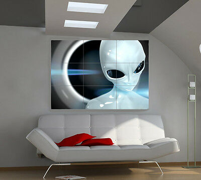 Alien large giant 3d poster print photo mural wall art ia004