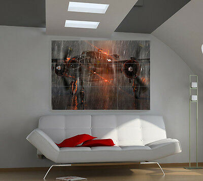 Airplane Rainfall large giant avia poster print photo mural wall art ic004