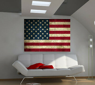 Usa. Flag large giant countries poster print photo mural wall art id532