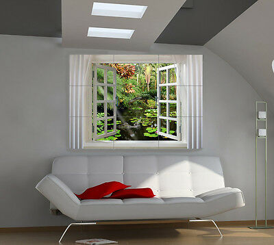 Window large giant 3d poster print photo mural wall art ia181