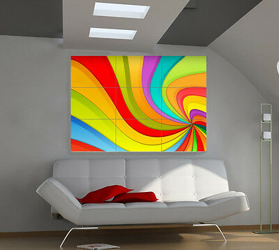 Color Chaos large giant 3d poster print photo mural wall art ia031