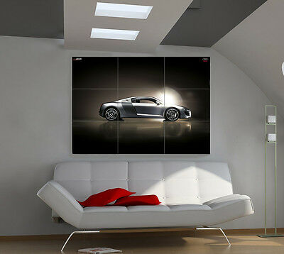 Audi R8 large giant cars poster print photo mural wall art ib523