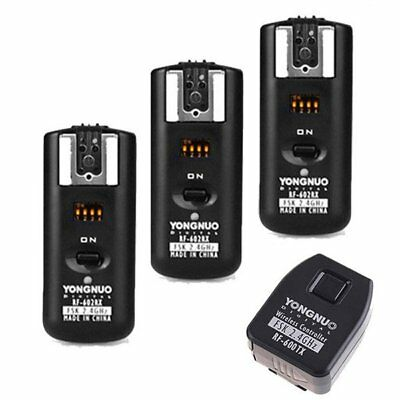 Yongnuo RF-602 2.4GHz Wireless Remote Flash Trigger 3 Receivers for Canon EOS UK