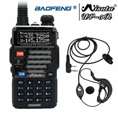 Baofeng x Misuta UV-5R Dual Band 136-174/400-520MHz Radio + UV-5R Earpiece UK