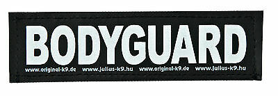 Pk of 2 Hook and Loop Reflective BODYGUARD Stickers for JULIUS-K9 Dog Harness S