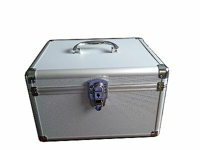 New 300 Cd Dvd Premium Aluminum Like Storage Carrying Case Box W Sleeves Silver