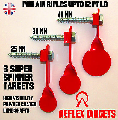 3 Pack Air Gun Rifle Super Spinner / Spinning Targets -  Heavy Duty Quality