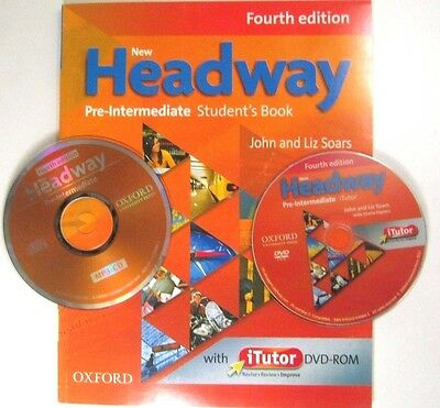 Oxford NEW HEADWAY PRE-INTERMEDIATE FOURTH EDITION STUDENT'S BOOKS WITH DVD -ROM
