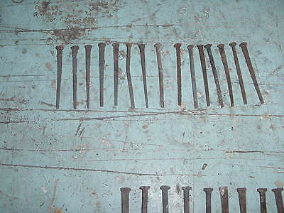 ANTIQUE PRIMITIVE VINTAGE BARN NAILS SPIKES LOT OF 15 1800s 3 INCH