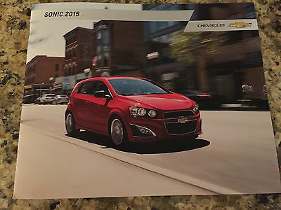 2015 Chevy Sonic 32-page Original Sales Brochure