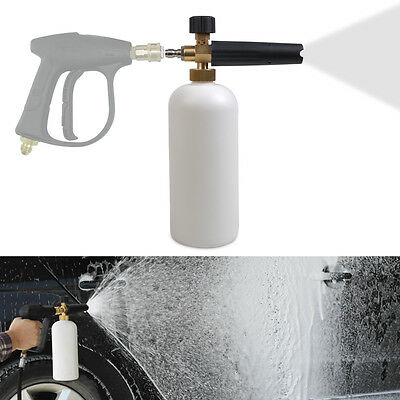 "For Car Wash Adjustable Snow Foam Lance Washer Soap 1L Bottle Gun 1/4"" F Inlet"