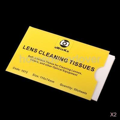 100 Sheets Soft Lens Cleaning Tissue Cleaning Wipe for Canon Nikon Olympus Lens