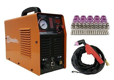 SIMADRE 50RX 110/220V 50 AMP PLASMA CUTTER with 60 CONS 1/2 INCH CLEAN CUT