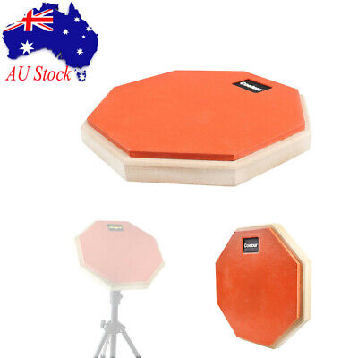"8"" Drum Practice Pad Rubber & Wood Beginner Drum Mute Pad Quiet Playing Drumpad"