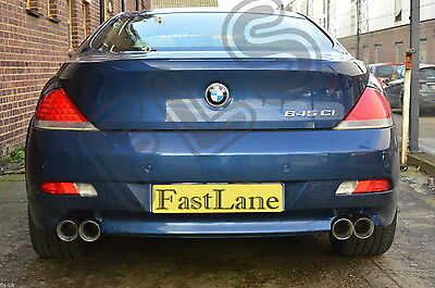 BMW 6 Series Custom Built Stainless Steel Exhaust Rear Dual System B611