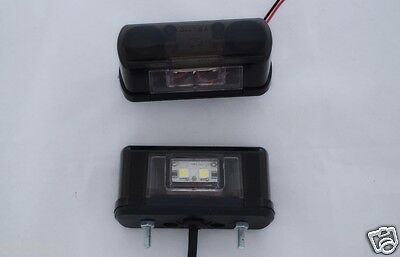 2x LED Lights Rear License Number Plate Lamps for Iveco Volvo Scania DAF trailer