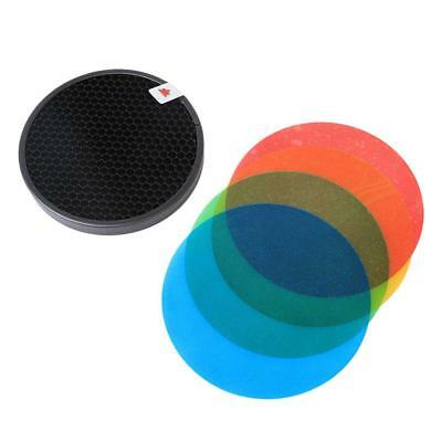 Honeycomb Grid with Colour Gel Filter Pack for HyBRID360 Bare Bulb Flash