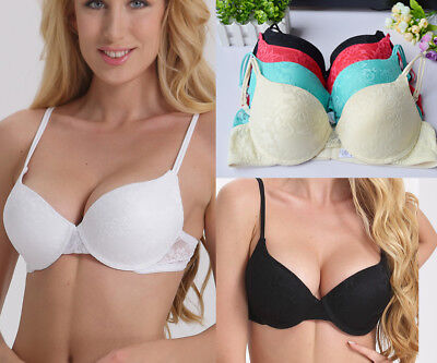 Sexy Women Lingerie Add 2 Cup Push up Padded Bra Brassiere Size A B C D Cup Xy