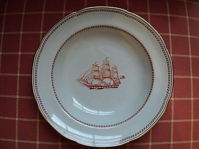 LOT OF 10 Spode Trade Winds RED Large rimmed soup bowls ships ...