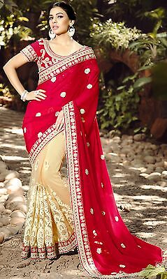 Indian Party wear designer Wedding Bollywood Half Net Saree